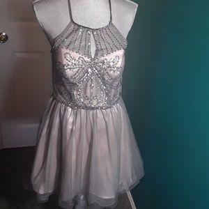 Charcoal color dress